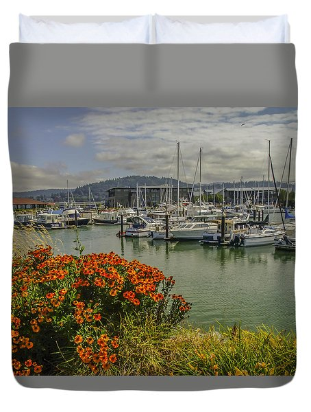 Bellingham Harbor Duvet Cover