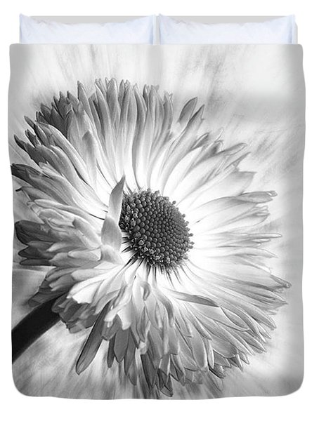 Bellis In Mono  #flower #flowers Duvet Cover by John Edwards