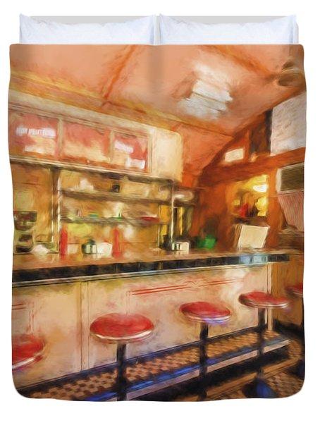 Bellows Falls Diner Duvet Cover