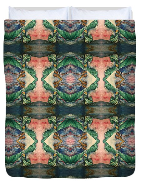 Belly Dance Mirror Image Duvet Cover