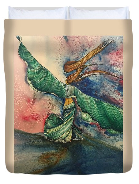 Belly Dancer With Wings  Duvet Cover