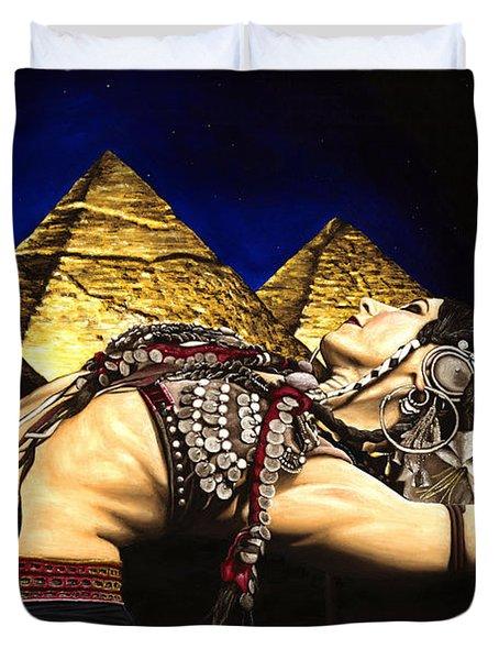 Bellydance Of The Pyramids - Rachel Brice Duvet Cover