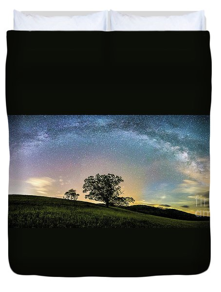 Below The Milky Way At The Blue Ridge Mountains Duvet Cover