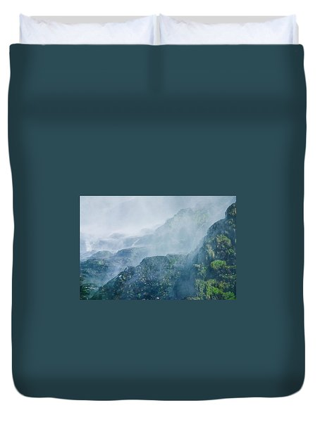 Below Wallace Falls Duvet Cover