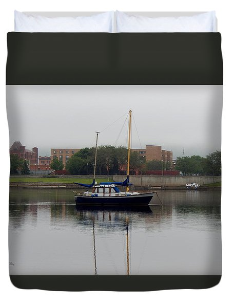 Beluga Sails  Duvet Cover