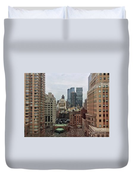 Belvedere Hotel New York City  Room With A View Duvet Cover