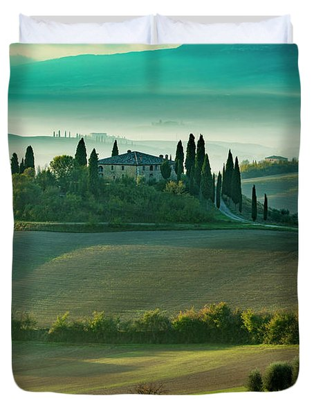 Duvet Cover featuring the photograph Belvedere - Tuscany II by Brian Jannsen
