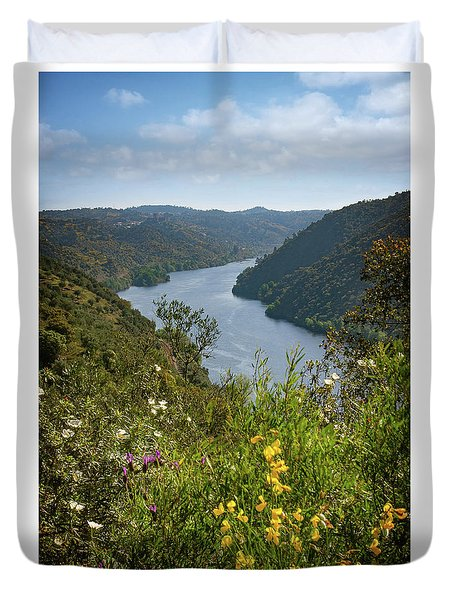 Duvet Cover featuring the photograph Belver Landscape by Carlos Caetano