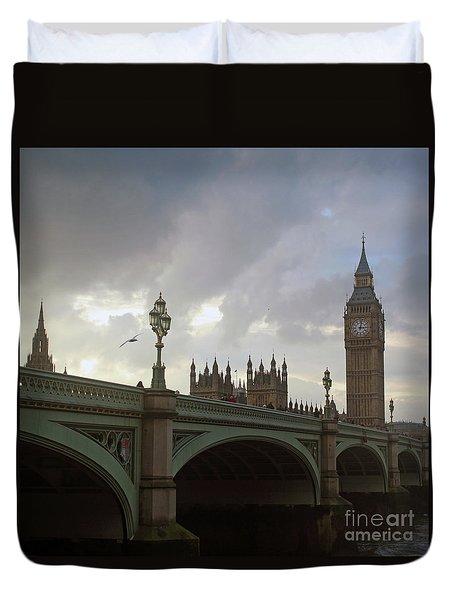 Duvet Cover featuring the photograph Ben And The Bridge by Sebastian Mathews Szewczyk