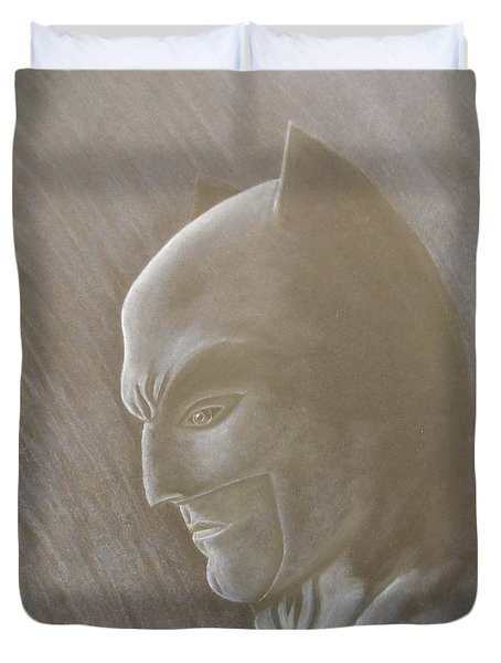 Ben As Batman Duvet Cover by Josetta Castner