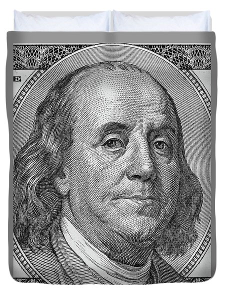 Duvet Cover featuring the photograph Ben Franklin by Les Cunliffe