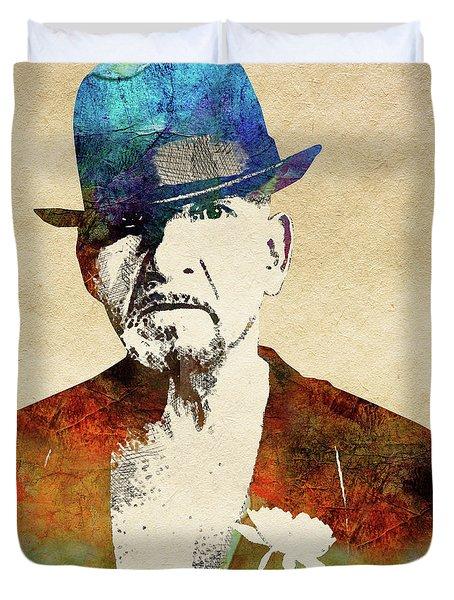 Ben Kingsley Duvet Cover by Mihaela Pater
