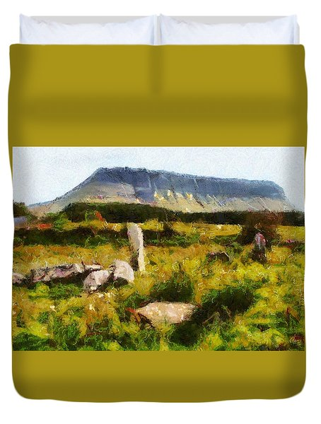 Benbulben Sligo Duvet Cover