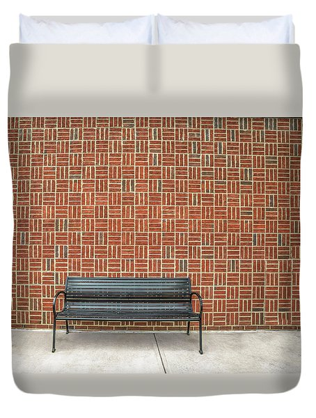 Duvet Cover featuring the photograph Bench 2017 02 by Jim Dollar