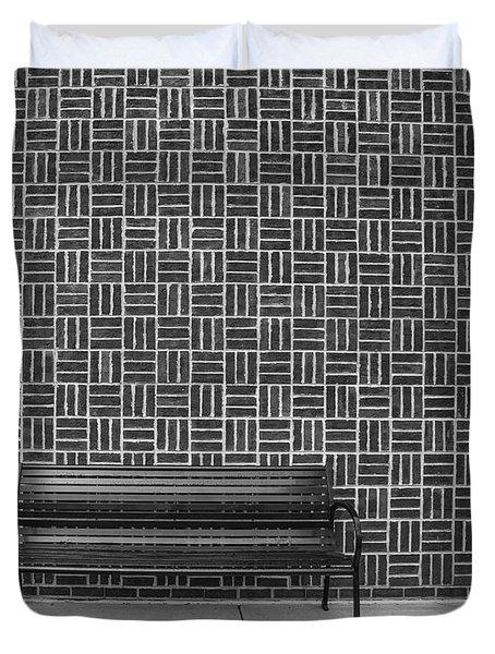Bench 2017 Bw Duvet Cover