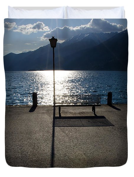 Bench And Street Lamp Duvet Cover