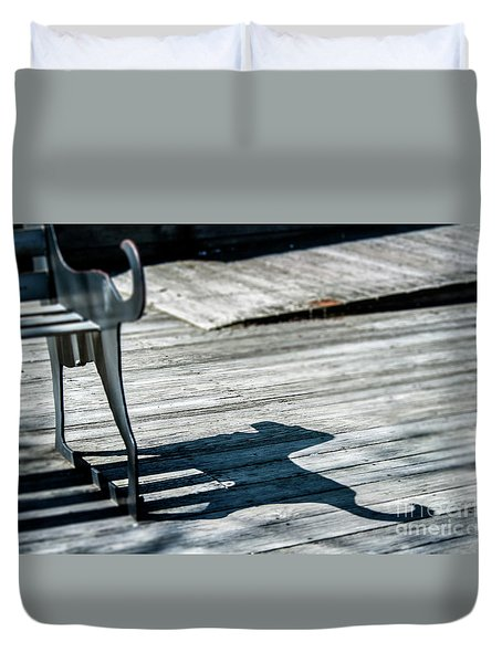 Bench Shadow Duvet Cover