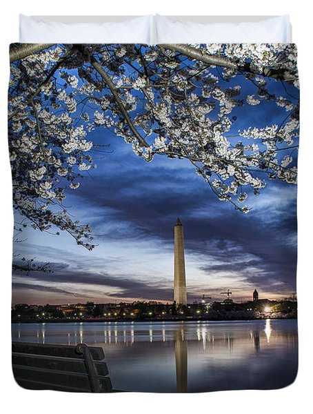 Bench With A View Duvet Cover