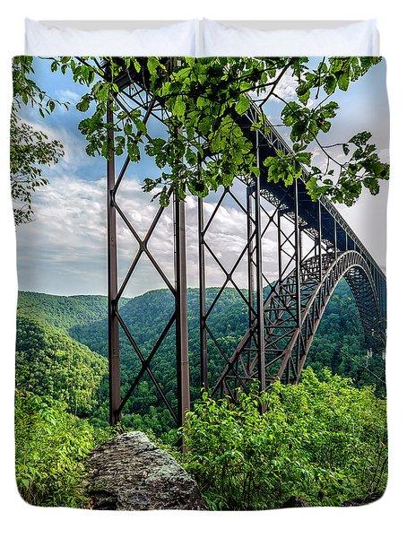 Beneath New River Gorge Bridge Duvet Cover