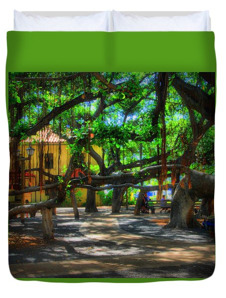 Beneath The Banyan Tree Duvet Cover