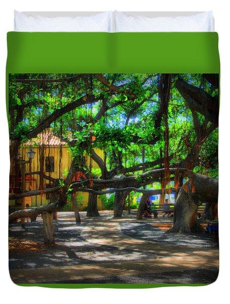 Beneath The Banyan Tree Duvet Cover