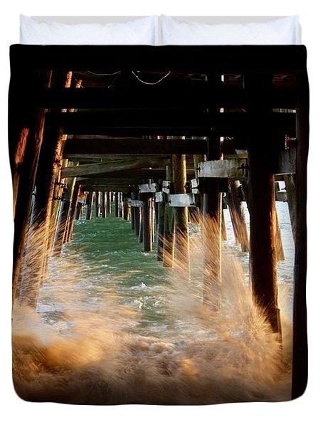 Beneath The Pier Duvet Cover