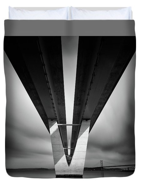 Beneath The Queensferry Crossing Duvet Cover