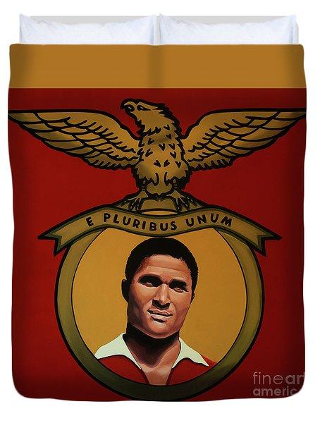 Benfica Lisbon Painting Duvet Cover by Paul Meijering