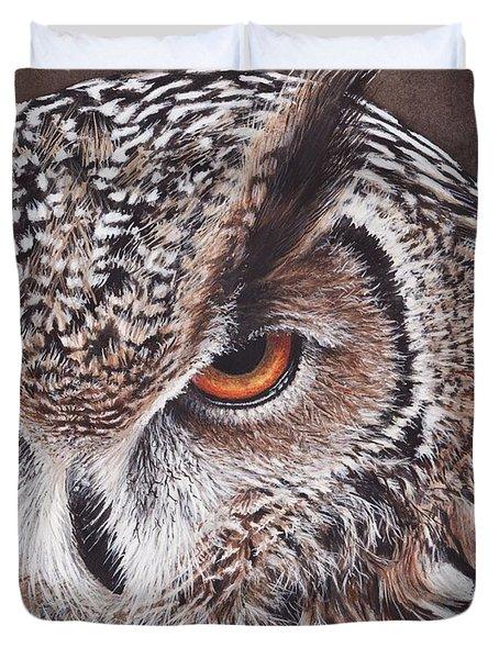 Bengal Eagle Owl Duvet Cover