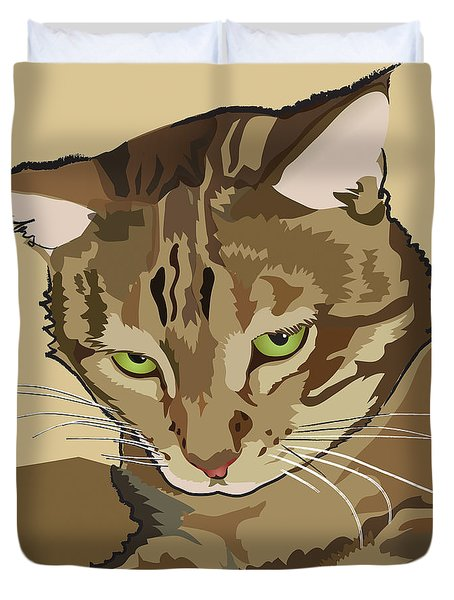 Bengal Kitty Pet Portrait Duvet Cover