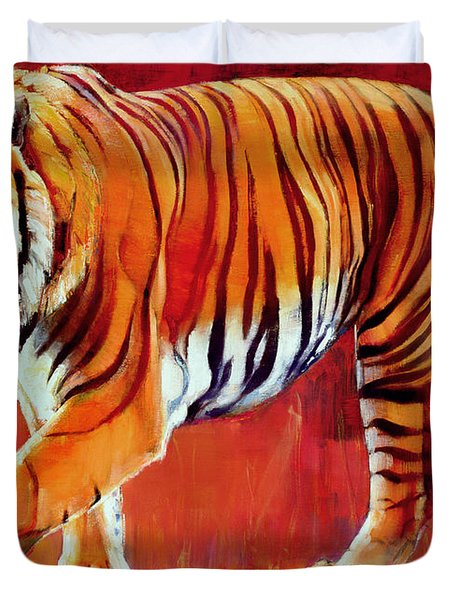 Bengal Tiger  Duvet Cover by Mark Adlington