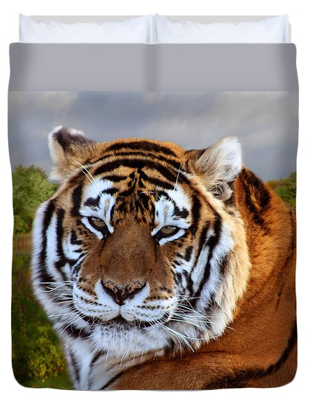 Bengal Tiger Portrait Duvet Cover