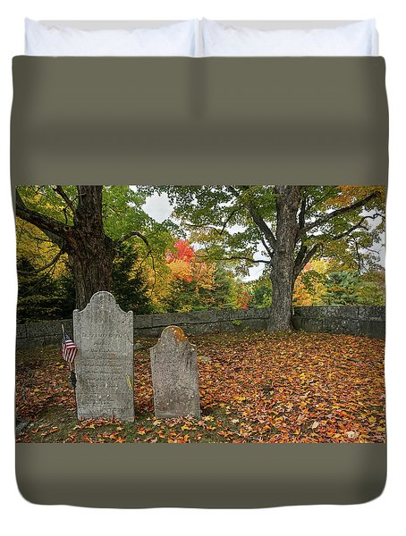 Duvet Cover featuring the photograph Benjamin Butler Grave by Wayne Marshall Chase