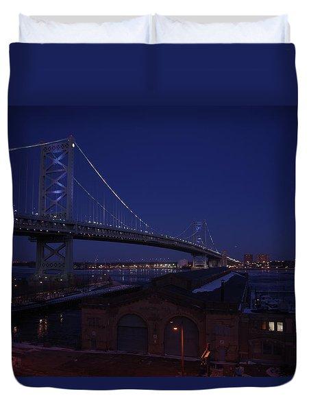 Benjamin Franklin Bridge Duvet Cover