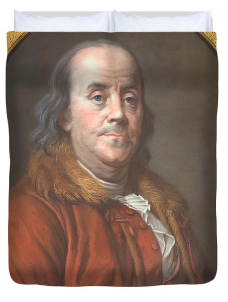 Benjamin Franklin Duvet Cover by Jean Valade
