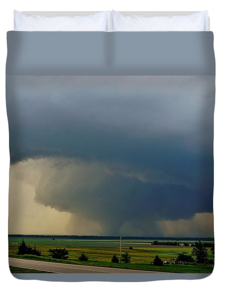 Duvet Cover featuring the photograph Bennington-chapman Tornado by Ed Sweeney