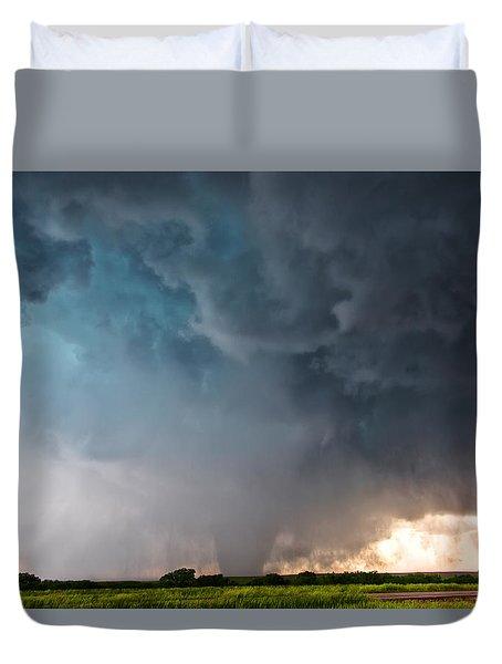 Bennington Kansas Tornado Structure Duvet Cover