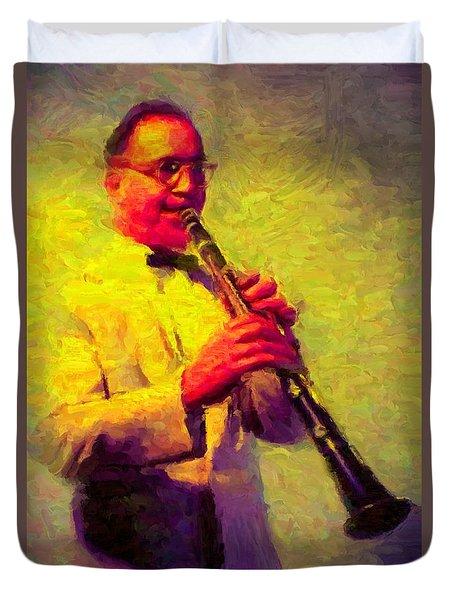 Benny Goodman Duvet Cover by Caito Junqueira