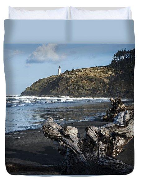 Benson Beach And North Head Duvet Cover