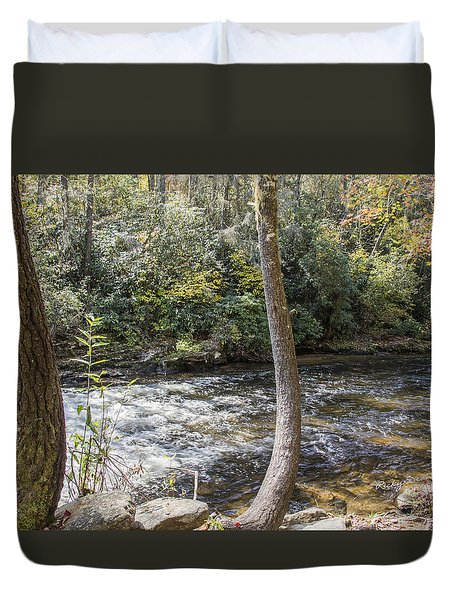 Bent Tree River Duvet Cover by Ricky Dean
