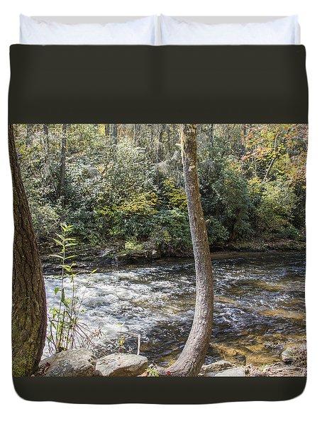 Bent Tree River Duvet Cover