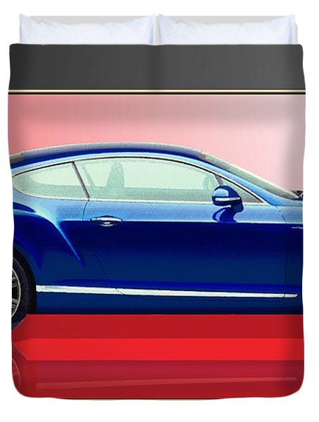 Bentley Continental Gt With 3d Badge Duvet Cover by Serge Averbukh
