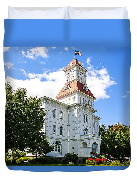 benton County Courthouse Duvet Cover