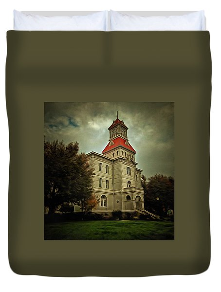 Benton County Courthouse Duvet Cover by Thom Zehrfeld