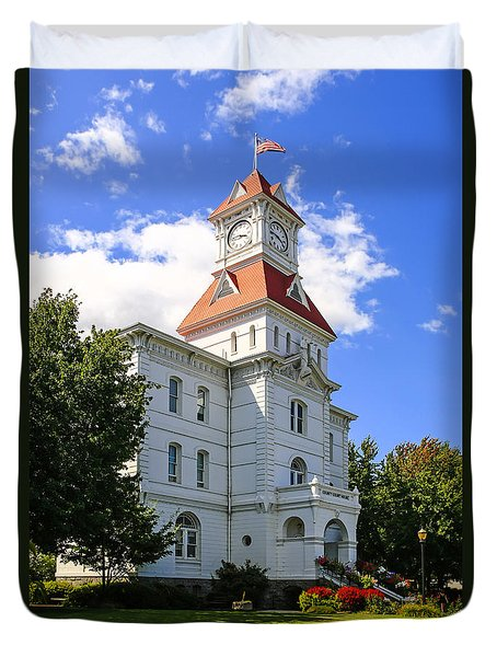 Benton Couty Courthouse Duvet Cover