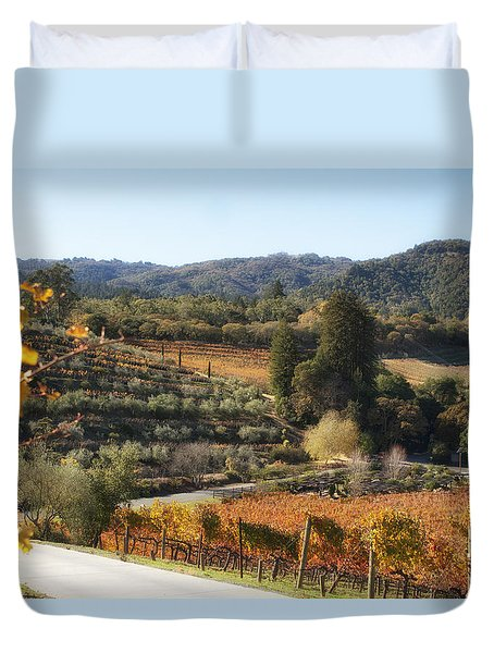 Benziger Winery Duvet Cover