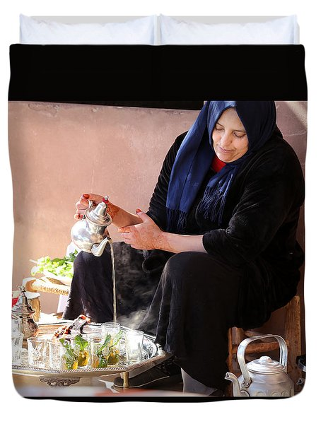 Duvet Cover featuring the photograph Berber Woman by Andrew Fare