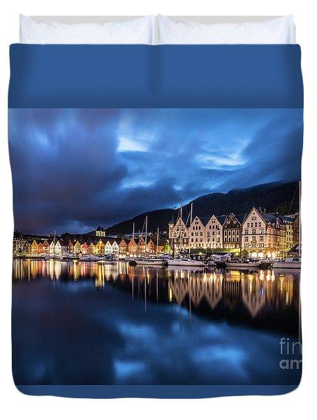 Bergen Harbor Duvet Cover
