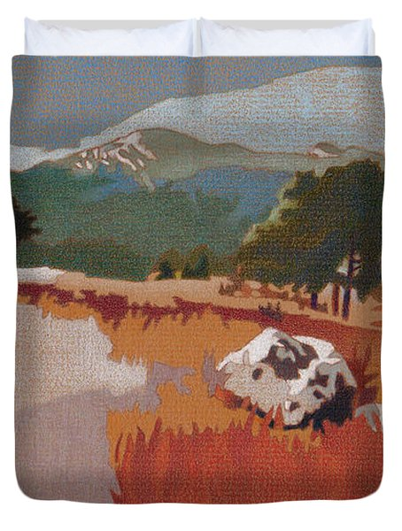 Bergen Peak First Snow Duvet Cover