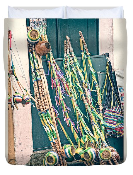 Duvet Cover featuring the photograph Berimbau's by Kim Wilson